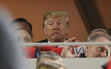 President Trump Faces at Baseball Game